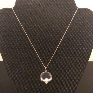 Sterling Silver Claddagh Necklace NWOT